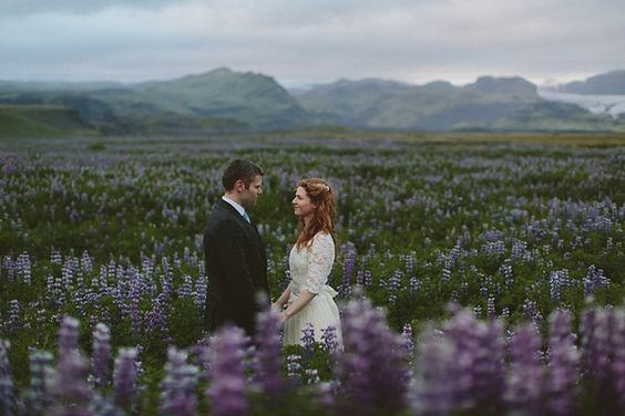 Alli & Rúnar got married on July 6, 2013 at Víkurkirkja in Vík í Mýrdal, Iceland, followed by a reception at Hotel Rangá in Hella.  These photographs were sent in by the couple's wedding photographer, Levi Tijerina - I love how he has skillfully juxtaposed the drama of the Icelandic backdrop with the tenderness shared between this couple - the results are quite breathtaking.