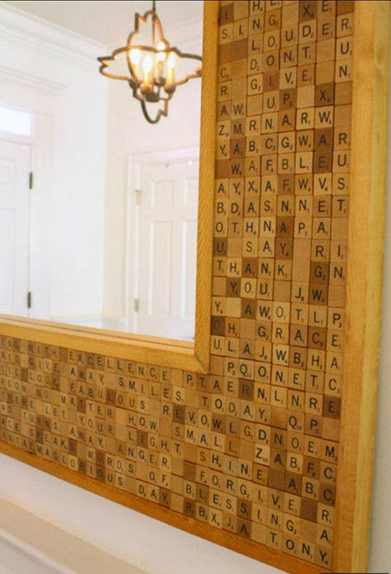 Scrabble Mirror - Grace forgive blessings Thank you - Let your light shine... So fun!