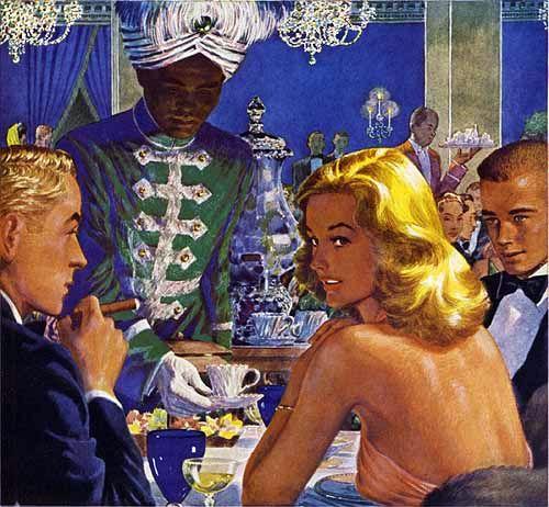 Webster Cigar (1946) par Georgi Fume # 01 Edwin Georgi n'est pas le seul représentant des joies et des jeopardies de gonflement.  Les illustrateurs qui ont créé des peintures pour bâtons de cancer et clous de cercueil (surnommé ainsi bien avant l'étiquette d'avertissement de toute Surgeon General) fait une liste impressionnante;  parmi eux: Douglas Crockwell, Adolph Treidler, George Petty, Saul Tepper, Joe Bowler, Bob Peak, Howard Chandler Christy, Neysa McMein, Hayden Hayden, Floyd Davis, ...