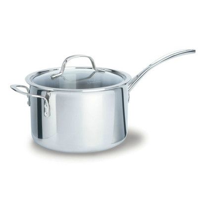 Calphalon Tri-Ply Stainless Steel 4.5qt Saucepan with Lid | Wayfair