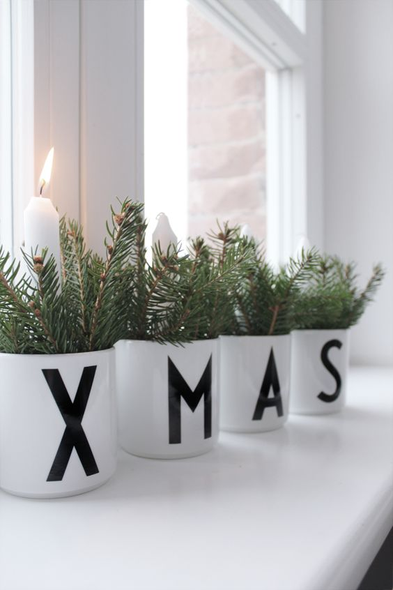 Ma maison blanche xmas decor with design letters home for Decoration maison blanche