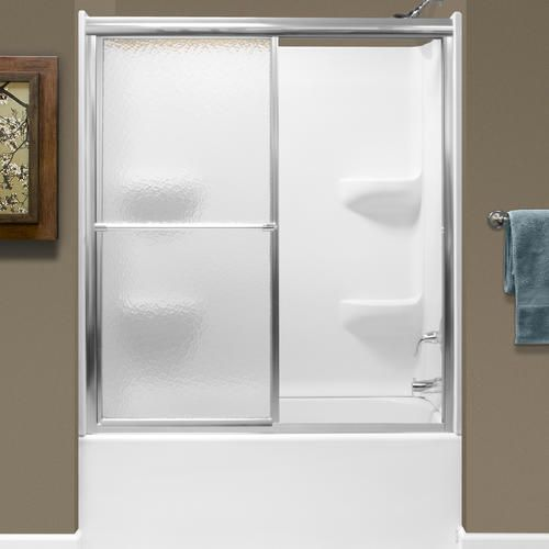 Lyons 50 54 W X 58 H Glass Bypass Bathtub Door With Images