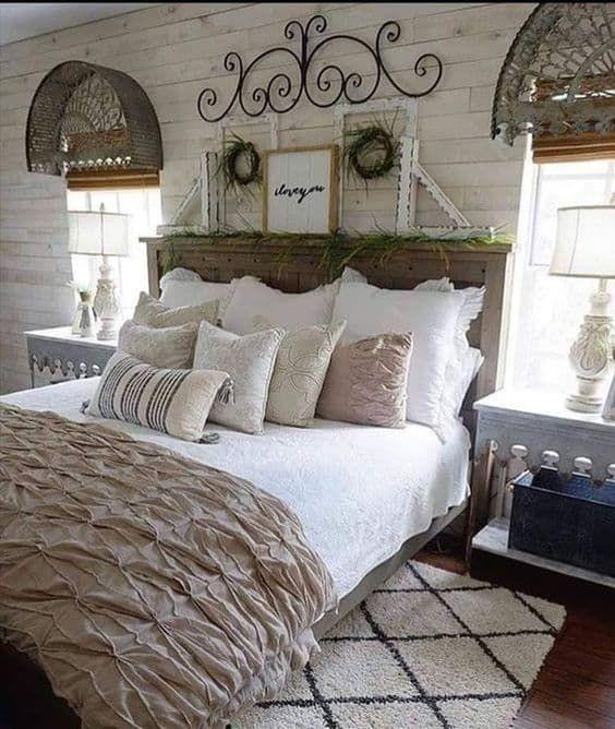 23 Farmhouse Bedroom Ideas In 2021 Farmhouse Bedroom Decor Bedroom Furniture Design Luxurious Bedrooms