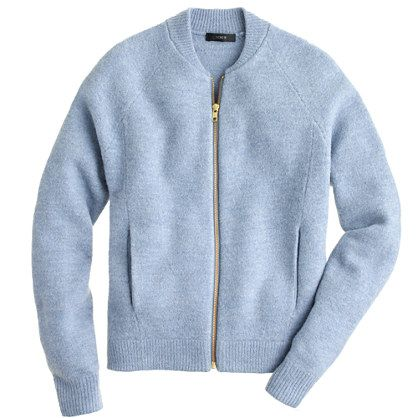 Wool bomber sweater-jacket: can you imagine if this actually had ...
