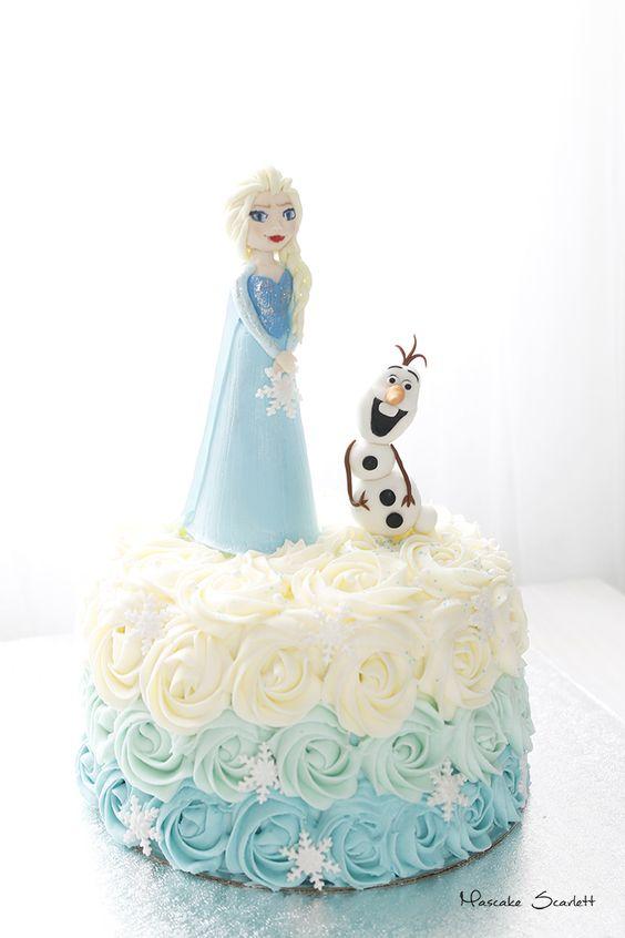 Elsa and Olaf birthday cake by MASCAKE SCARLETT