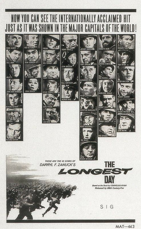 THE LONGEST DAY (1962) *** | John wayne movies, Movie posters, Movie posters vintage