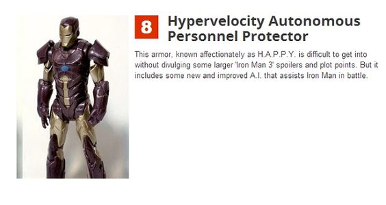 A Guide To Tony Stark's New Armor Suits In 'Iron Man 3' - DesignTAXI.com