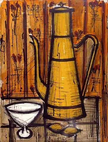 """""""Teapot"""" ~ Bernard Buffet 1955. great for bistro art ..."""