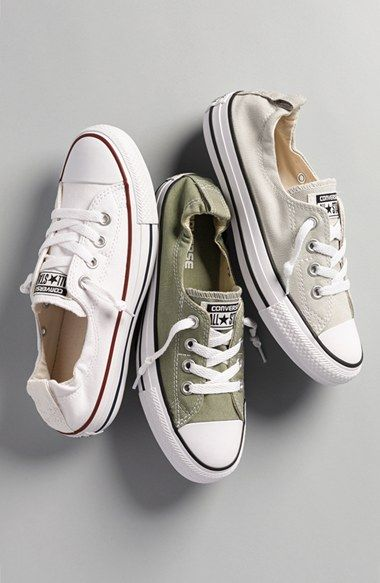 WANT 'EM - Converse Chuck Taylor® 'Shoreline' Sneaker (Women) (2 for $75) | Nordstrom. I have always LOVED a great white sneaker!: