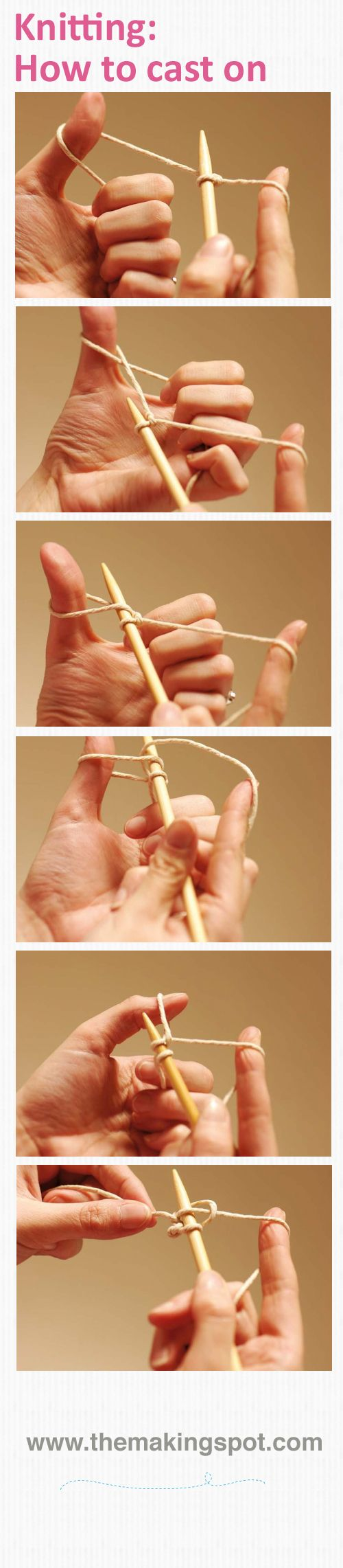 Knitting For Beginners Step By Step : How to cast on full step by guide here http