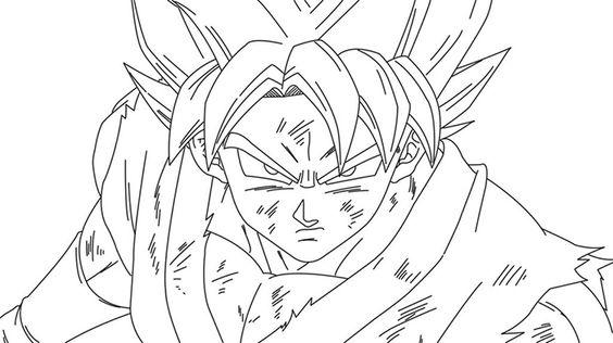 Vegeta Para Colorear Para Pin Para A On Para Dragon Ball Z: Imágenes De Goku Dios Azul Para Colorear Y Dibujar
