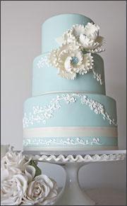 Aqua Wedding Cakes with Swarovski Crystal