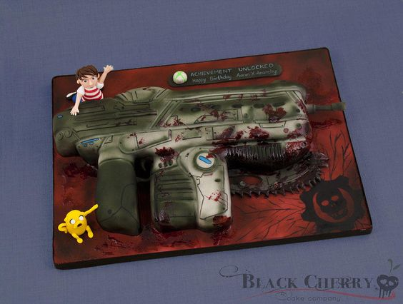 Gears of War Lancer Cake - Cake by Little Cherry