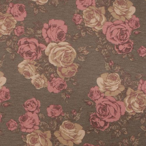 Vintage Pink Taupe Roses On Heather Gray Spun Jersey Spandex Blend Knit Fabric Super Soft Brushed Text Vintage Pink Colorful Backgrounds Fabric Stores Online
