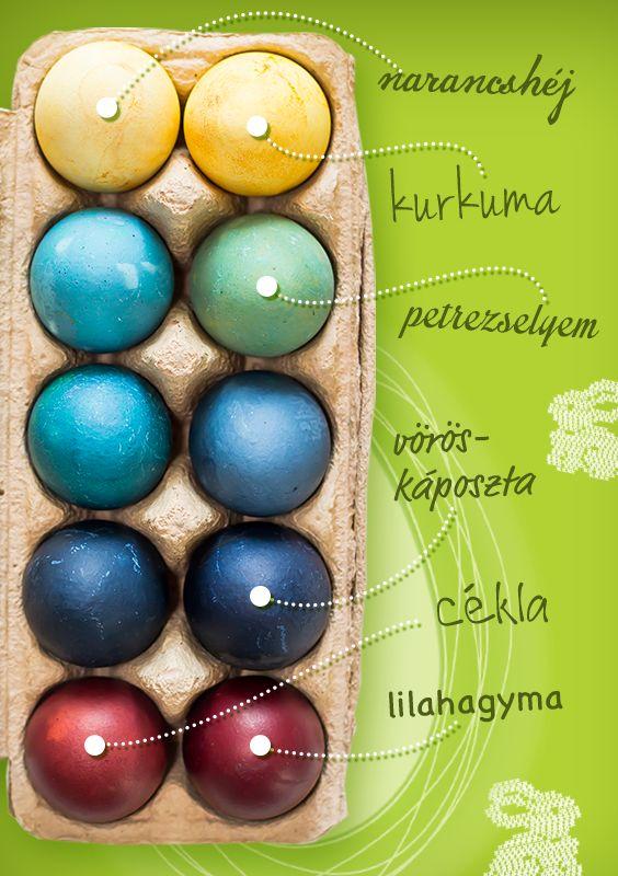 Természetes tojásfestő növények a háztartásban