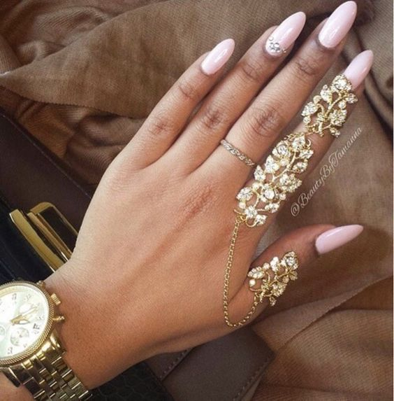 elegant cut out double linked knuckle ring - Google Search