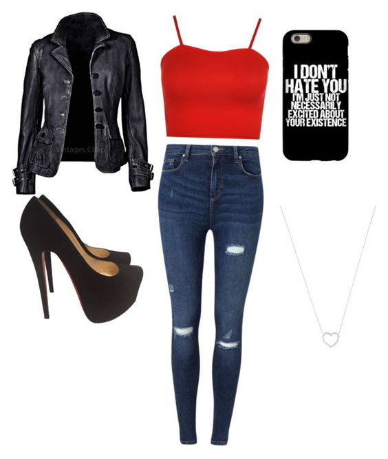 """""""Untitled #21"""" by aj-xo-lee on Polyvore featuring Miss Selfridge, WearAll, Christian Louboutin and Tiffany & Co."""