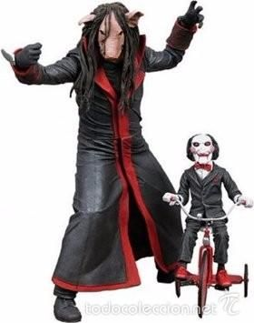 Figura - Muñeco SAW Jigsaw Killer serie 5 - puppet and tricycle - Neca Toys