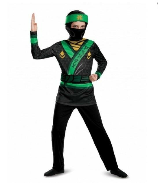 10-12 Disguise Lloyd Lego Ninjago Movie Deluxe Costume Green Large