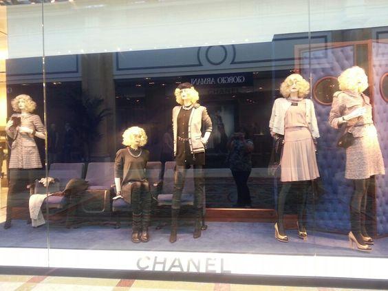 Window displaying Channel's fashion at Bellagio Hotel in Las Vegas