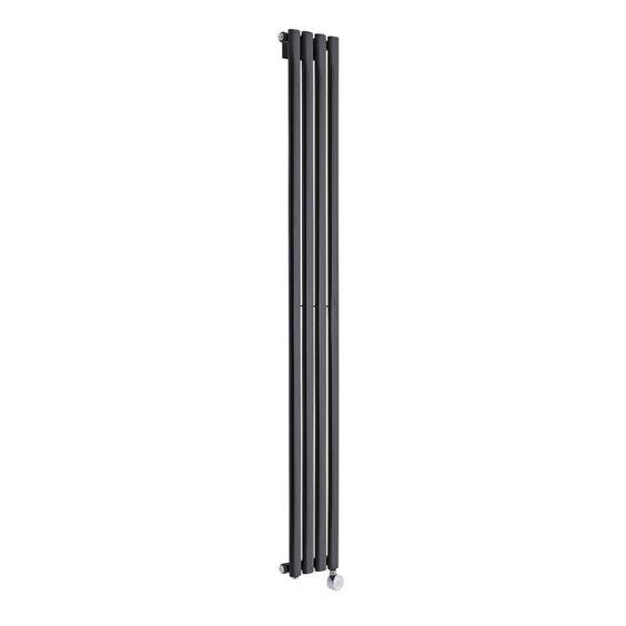 Design-Heizkörper Elektrisch Schwarz Glanz Vertikal Revive 732 Watt 1780mm x 236mm - Image 1