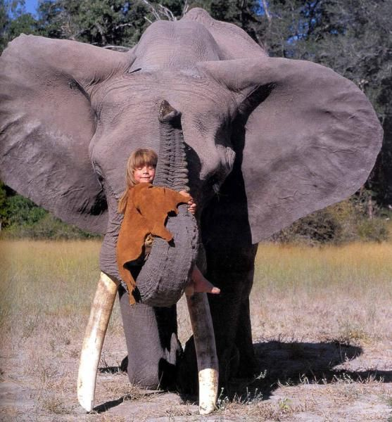 Tippi Degré with Abu - Namibia