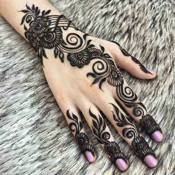 simple hand mehndi design 2021