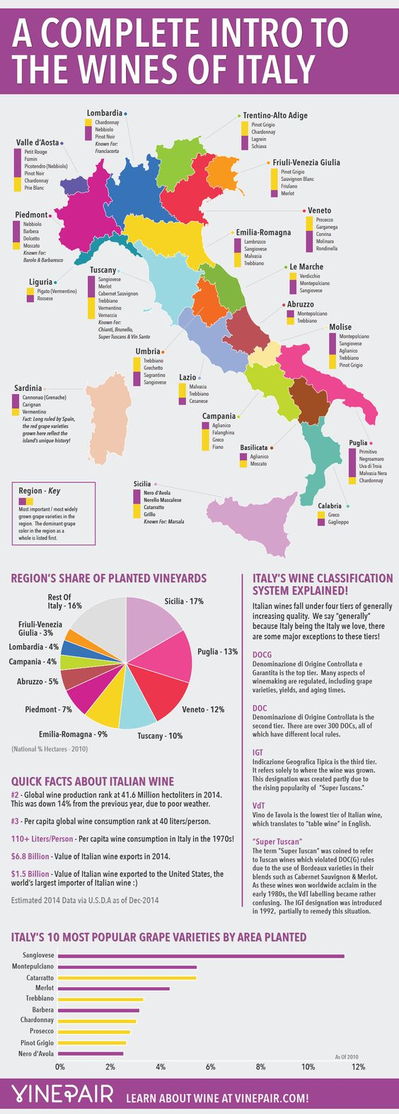 A Complete Introduction To The Wines Of Italy: MAP & INFOGRAPHIC   VinePair