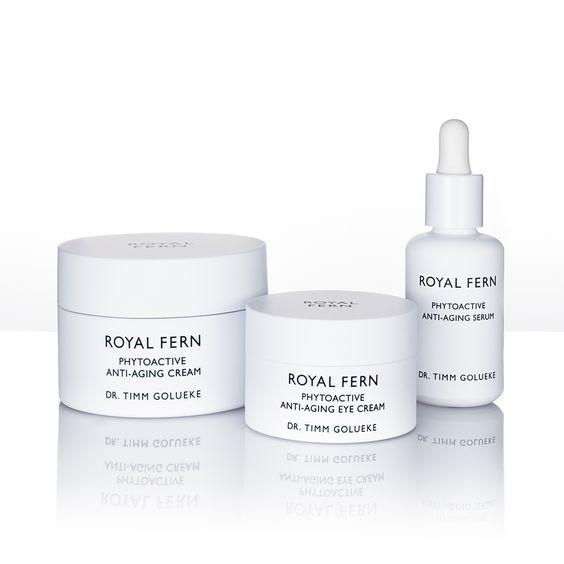Pflegt, strafft, festigt und spendet lang anhaltend Feuchtigkeit mit Hilfe von Farnextrakten: Royal Fern Anti Aging Skincare | creme guides