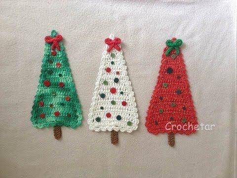 Arvore De Natal Para Porta Croche Endurecido Professora Maria