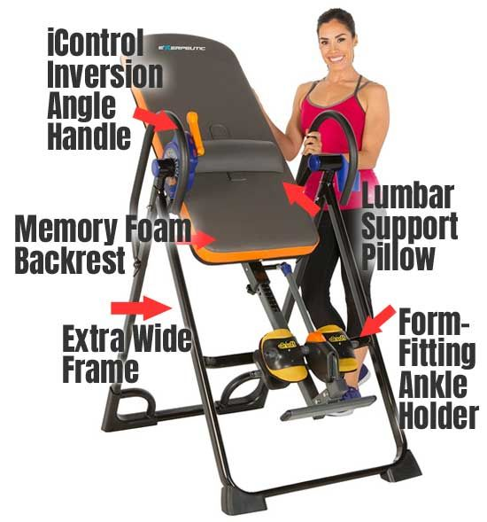 My Review Of The Exerpeutic 975sl High Capacity Inversion Table With Memory Foam Backrest Lumbar Support Ergon Inversion Table Inversions Instructional Video