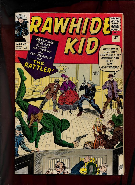 Marvel Comics, Rawhide Kid #37,Jack Kirby Pencils, Sol Brodsky Inks, Stan Goldberg Colours, Script Stan Lee.