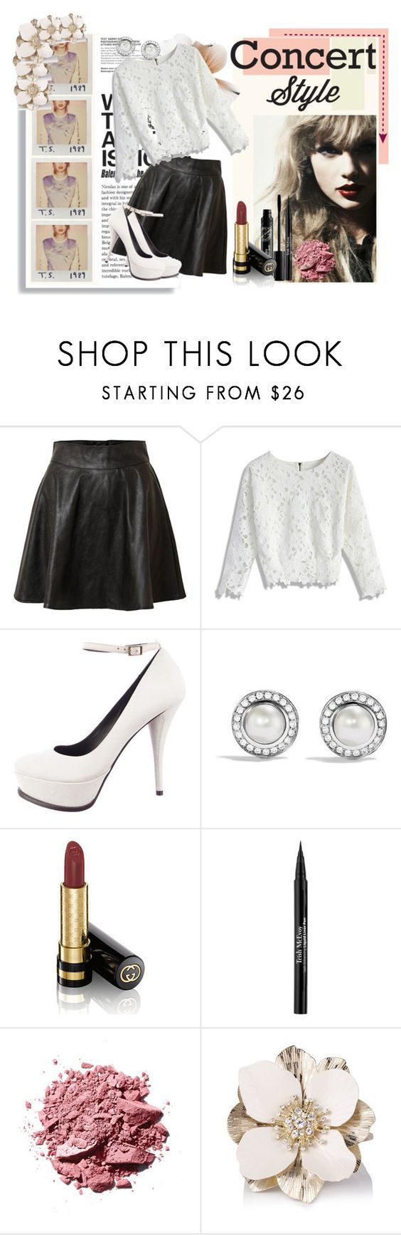 """Sweet Swiftie"" by babynessie ❤ liked on Polyvore featuring Vero Moda, Chicwish, Elizabeth and James, David Yurman, Gucci and Trish McEvoy"