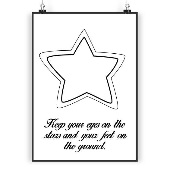 Poster DIN A3 Stern aus Papier 160 Gramm  weiß - Das Original von Mr. & Mrs. Panda.  Jedes wunderschöne Poster aus dem Hause Mr. & Mrs. Panda ist mit Liebe handgezeichnet und entworfen. Wir liefern es sicher und schnell im Format DIN A3 zu dir nach Hause.    Über unser Motiv Stern  Sterne sind nicht nur aus der Astrologie bekannt. Es gibt kaum etwas romantischeres, als nachts verträumt in den Himmel zu schauen und nach Sternschnuppen zu suchen. Magische Momente entstehen und man hat einen…