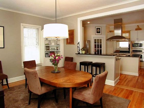 Kitchen dining rooms combined modern dining room kitchen for Kitchen dining area decorating ideas