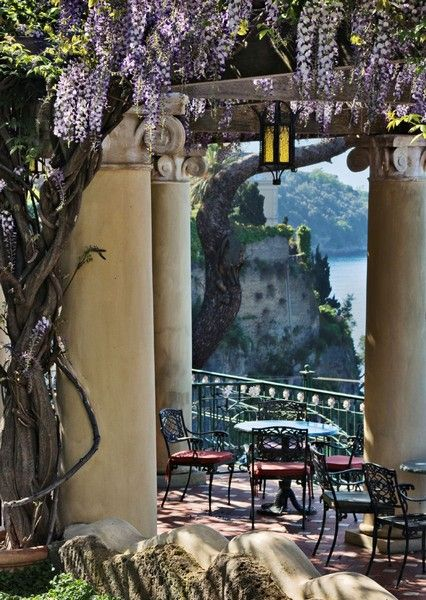Sorrento, Italy - beautiful spot for glass of Limoncello that Sorrento is famous for....