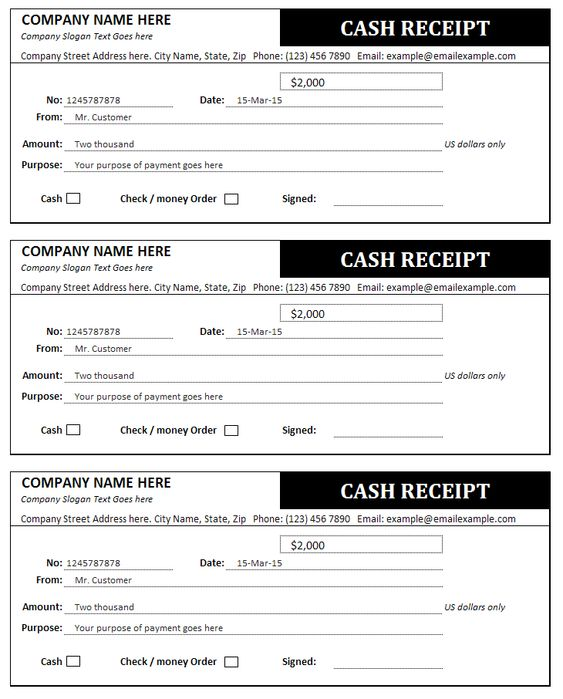Receipt Template Business Pinterest Receipt template and - cash receipt template