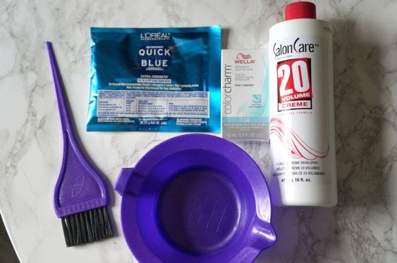 Everything you need to bleach your hair, for only about $25 at Sally Beauty Supply.
