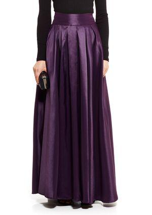Satin Skirt Long 27