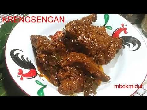 Krengsengan Ayam Bumbu Petis Youtube Daging Ayam Cabai