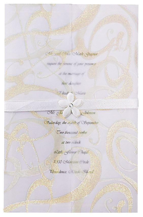 Cheap wedding invitations Wedding invitation kits and Invitation – Gold Wedding Invitation Kit