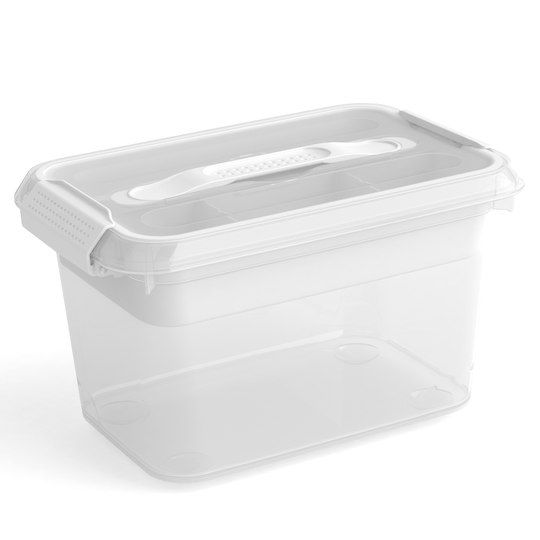 6 2qt Latchmate White Storage Box With Tray By Recollections White Storage Box Small Storage Containers White Storage