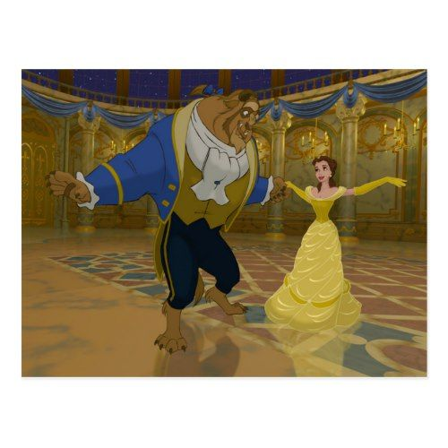 Beauty The Beast Dancing In The Ballroom Postcard Zazzle Com