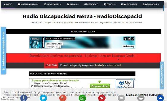 Blogspot de Radio Discapacidad Net23/RadioDiscapacid