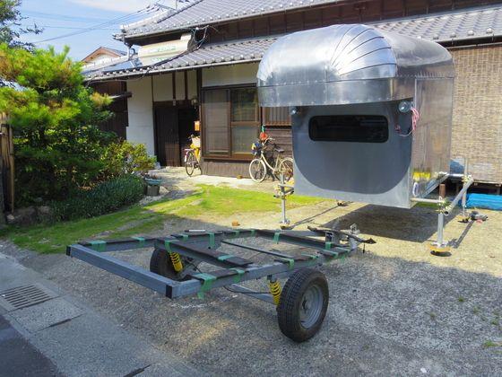 本格的合体作業 軽キッチンカー製作 キッチンカー キャンピングカー