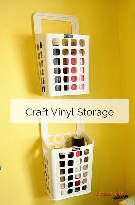 Housewife Eclectic: Craft Vinyl Storage