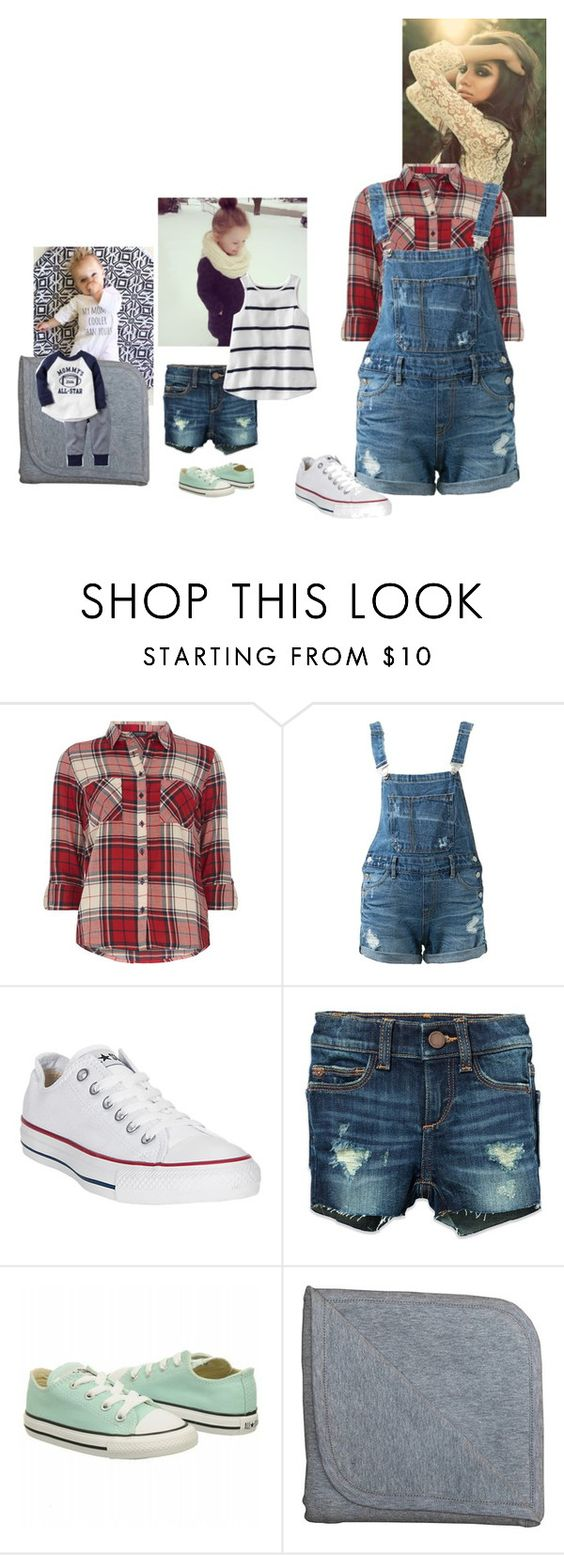 """Playing outside // Stella, Ash, Emily"" by mad-die-hatter ❤ liked on Polyvore featuring Dorothy Perkins, Guild Prime, Graco, Converse, DL1961 Premium Denim and Monica + Andy"