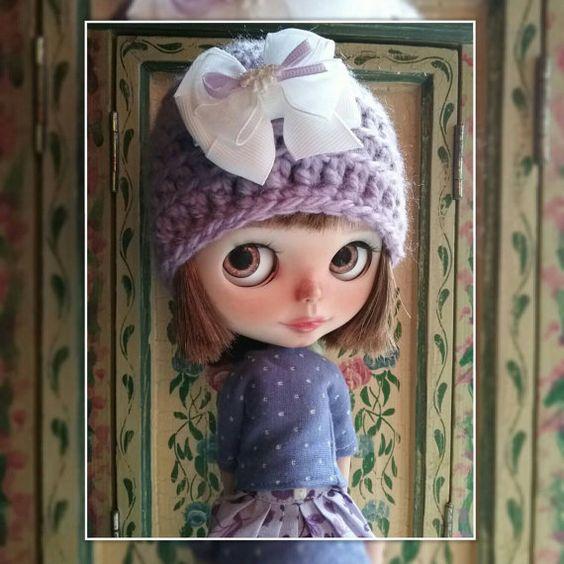 NEUEN häkeln Hut für Blythe Puppen von Debbie Aponte in meine schöne Blythe