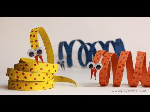 Serpiente: animales con rollos de papel higiénico - Papelisimo