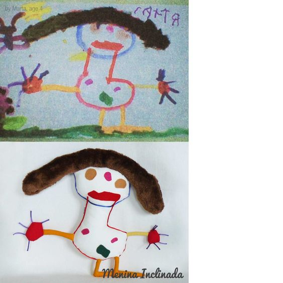 Menina Inclinada makes custom toys from children's drawings